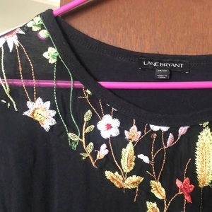 Black with flower decal tshirt